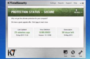 K7 Total Security Crack v16.0.0497 + Activation Key